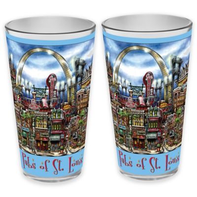 pubsOf. St. Louis, Missouri Pint Glasses (Set of 2)