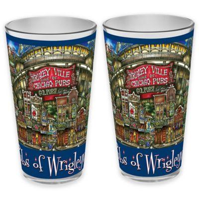 pubsOf. Wrigleyville, Illinois Pint Glasses (Set of 2)