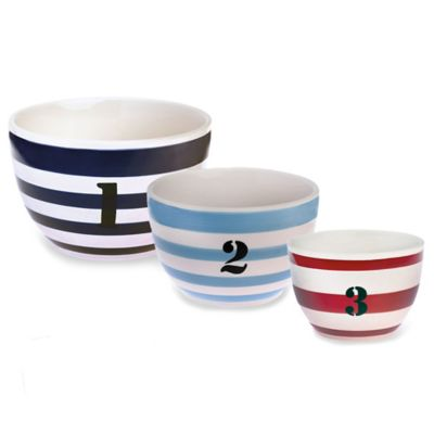 Boston International Ahoy Buoy 3-Piece Bowl Set