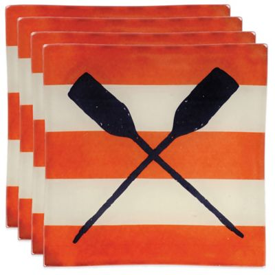 Boston International Yacht Club Oars Tidbit Plates (Set of 4)