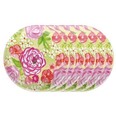 Boston International Rose Garden Salad Plates (Set of 6)