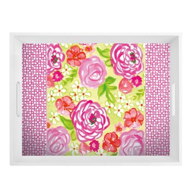 Boston International Rose Garden Rectangular Tray