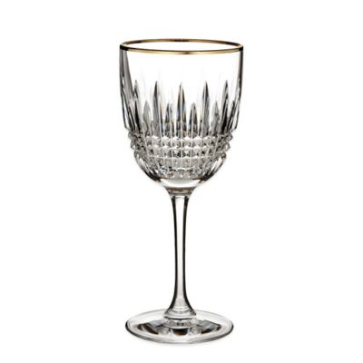 Waterford® Lismore Diamond Gold Wine Glass