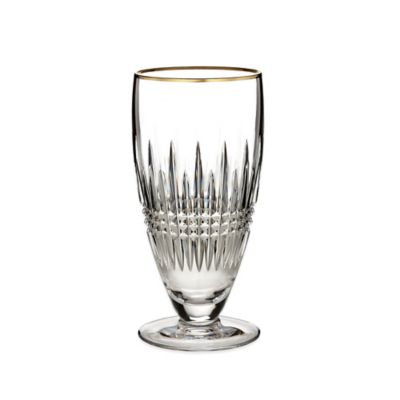 Waterford® Lismore Diamond Gold Iced Beverage Glass