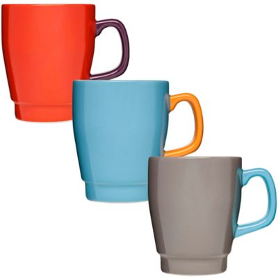 Red Stoneware Mugs