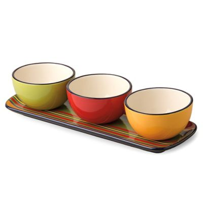 Boston International Habanera Tidbit Bowl & Tray Set