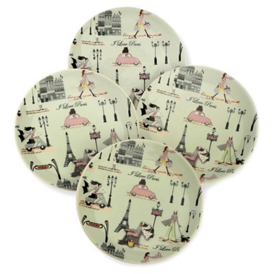 Boston International Paris Tidbit Plates (Set of 4)