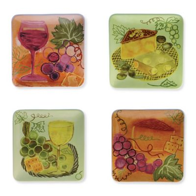 Boston International Napa Square Tidbit Plates (Set of 4)