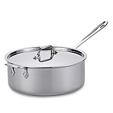 All-Clad Stainless Steel 6-Quart Covered Deep Saute Pan