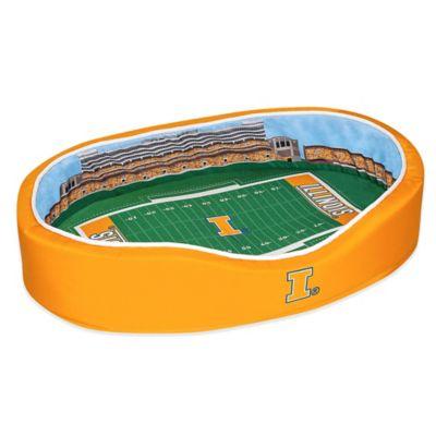University of Illinois Large Stadium Pet Bed