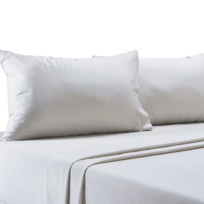 250-Thread-Count Easy-Care Full Flat Sheet in White