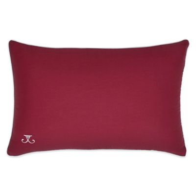 Jill Rosenwald Hampton Link Oblong Throw Pillow in Garnet
