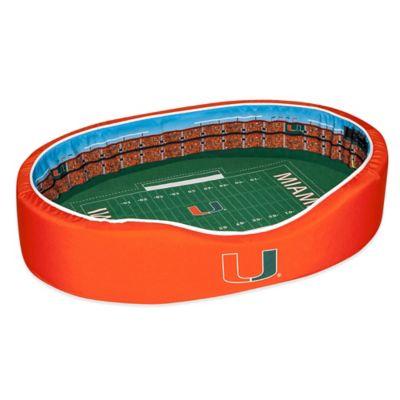 University of Miami Large Stadium Pet Bed