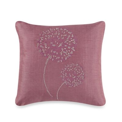 Frette At Home Pompeii Square Throw Pillow in Pink