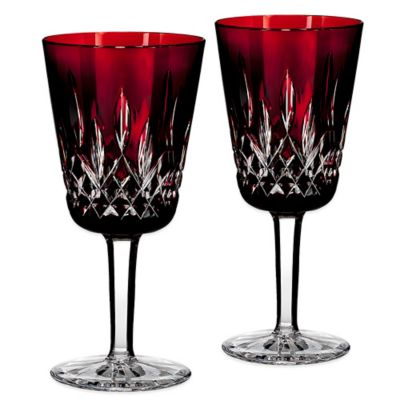 Waterford® Lismore Goblet in Ruby (Set of 2)
