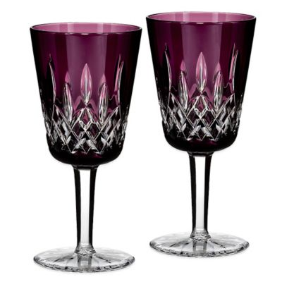 Waterford® Lismore Goblet in Amethyst (Set of 2)