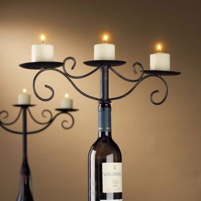 Wine Enthusiast Wine Bottle Candelabra