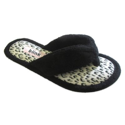 Blink Small Micro Terry Thong Animal Print Women's Slippers