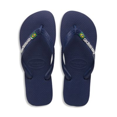 Havaianas Size 6.5 Brazil Logo Men's Sandal in Navy Blue