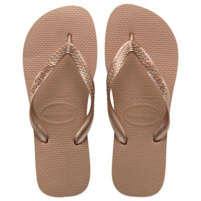 Havaianas Size 6 Top Metallic Women's Sandal in Rose Gold