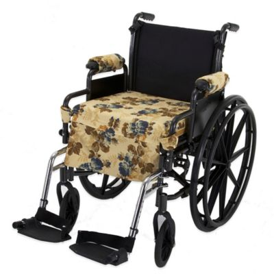 Wheelchair Solutions Wheelie Styles in Golden Floral/Blue and Gold Stripes