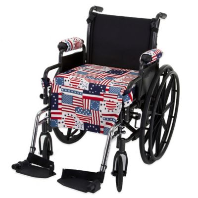 Wheelchair Solutions Wheelie Styles in Alternative USA Flag/Blue