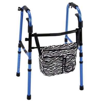 Wheelchair Solutions Wheelie Walker Bag in Zebra
