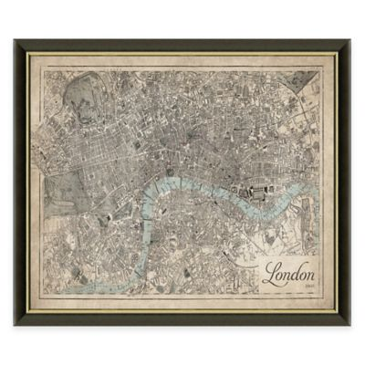 Framed Map of London Wall Décor