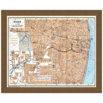 Framed Map of St. Louis, MO Wall Décor