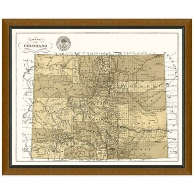 Framed Colorado Map Wall Décor