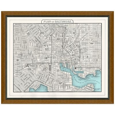 Framed Baltimore, MD Map Wall Décor