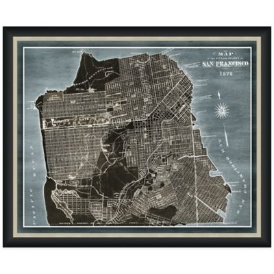 Framed Map of San Francisco, CA Wall Décor
