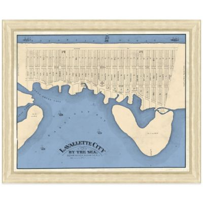 Framed Map of Lavalette City, NJ Wall Décor
