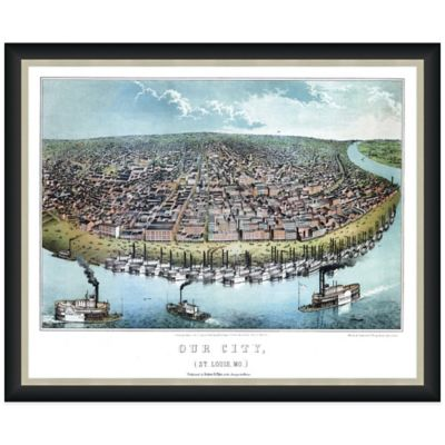 Framed Bird's Eye View of St. Louis, MO Wall Décor