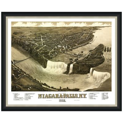 Framed Niagara Falls, NY Map Wall Décor