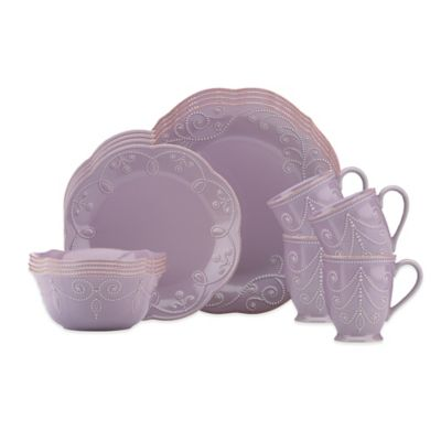 Lenox® 16-Piece French Perle Dinnerware Set in Violet