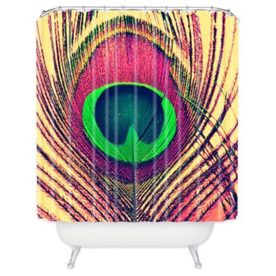 DENY Designs Shannon Clark Peacock 2 Shower Curtain