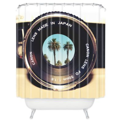 DENY Designs Bianca Green Focus On Palms Shower Curtain