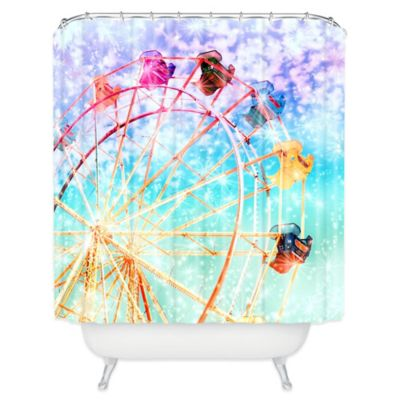 Blue Colorful Shower Curtains