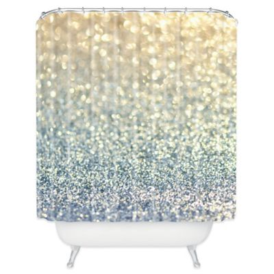 DENY Designs Lisa Argyropoulos Snowfall Shower Curtain in Silver
