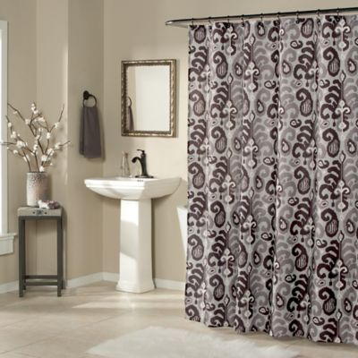 Ikat Pattern Shower Curtains