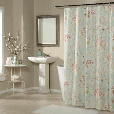 Millie Shower Curtain in Aqua