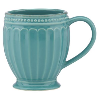 French Perle Groove Mug in Bluebell