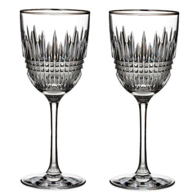 Waterford® Lismore Diamond Platinum Goblets (Set of 2)