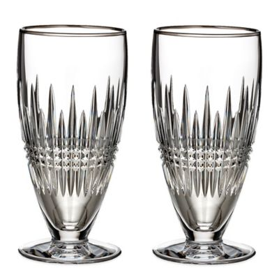 Waterford® Lismore Diamond Platinum Iced Beverage Glasses (Set of 2)