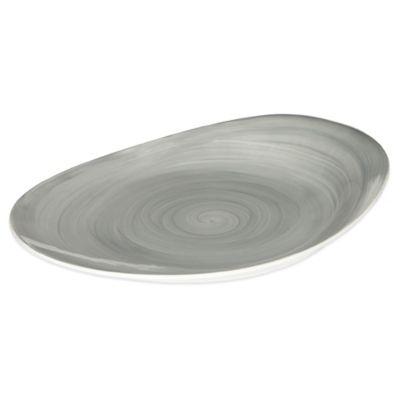Mikasa® Savona Oval Platter in Grey