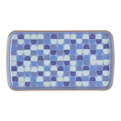 Denby Heritage Fountain Rectangular Accent Plate in Blue
