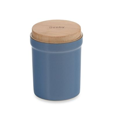 Denby Heritage Fountain Storage Jar in Blue