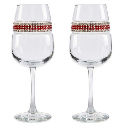 Shimmering Wines® by Stemware Designs Red Carpet Wine Glasses (Set of 2)