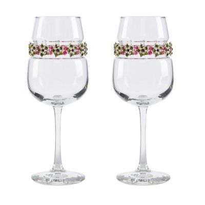 Shimmering Wines® by Stemware Designs Tuscany Wine Glasses (Set of 2)
